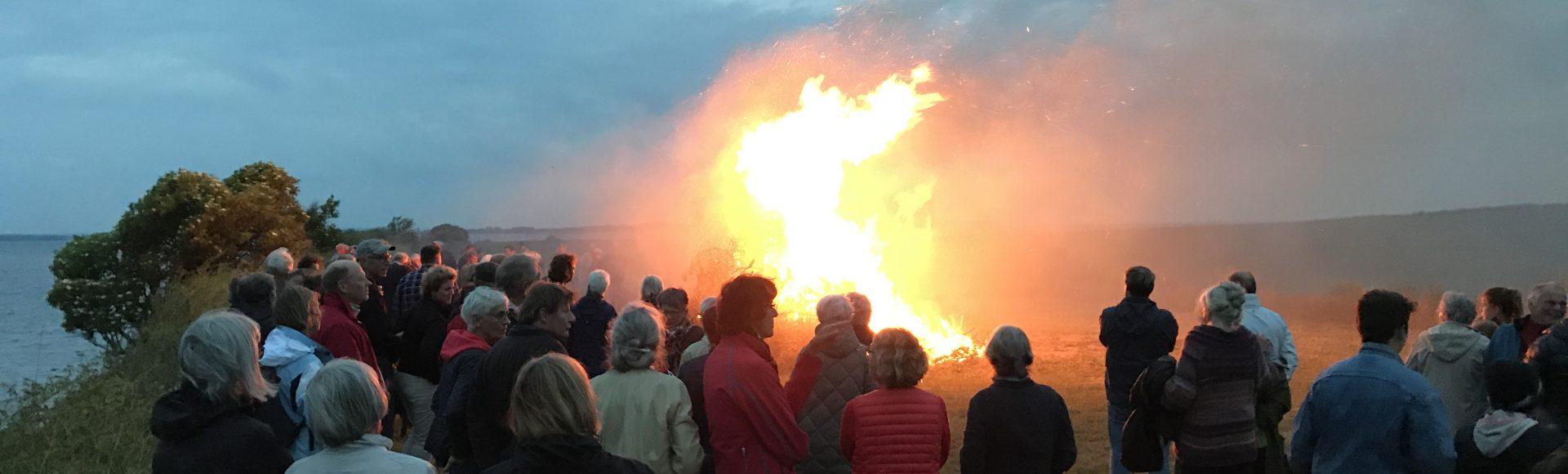 Flot Sankt Hans aften på Nyord